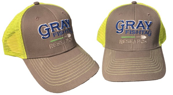 "Gray FishtTag Research Baseball ""trucker Style"" Hat"