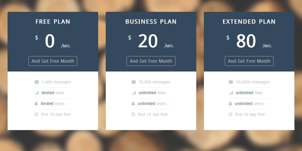 Pricing Table Startup UI Pricing Table GrayGrids