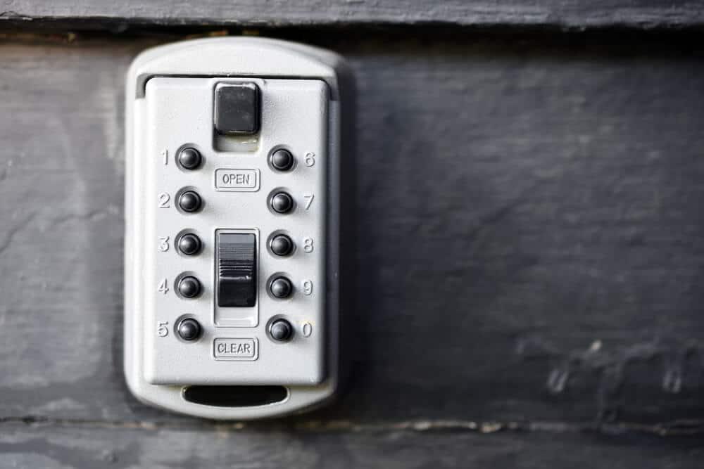 close up of key safe for elderly people