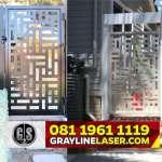 081 1961 1119 GRAYLINE LASER > Pintu Garasi Laser Cutting Jakarta