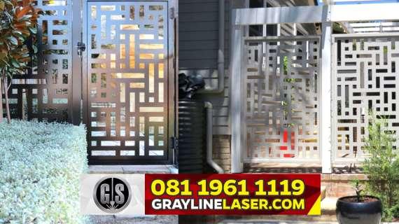 081 1961 1119 GRAYLINE LASER > Pintu Garasi Laser Cutting Jakarta Utara
