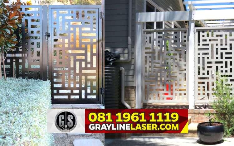Pintu Pagar Laser Cutting Depok