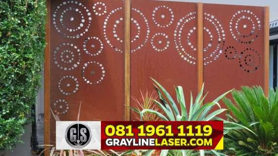 081 1961 1119 GRAYLINE LASER > Pagar Laser Cutting Jakarta Selatan