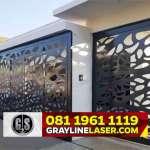 081 1961 1119 GRAYLINE LASER > Pintu Garasi Laser Cutting Jakarta Selatan