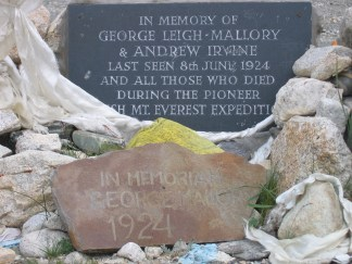 Memorial to George Mallory at Everest Base Camp