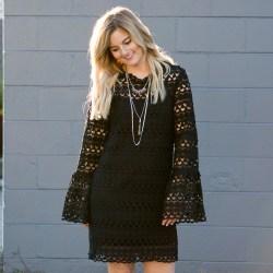 99229002cd3f Landon Crochet Bell Sleeve Dress - Against the Grayne Clothing Company