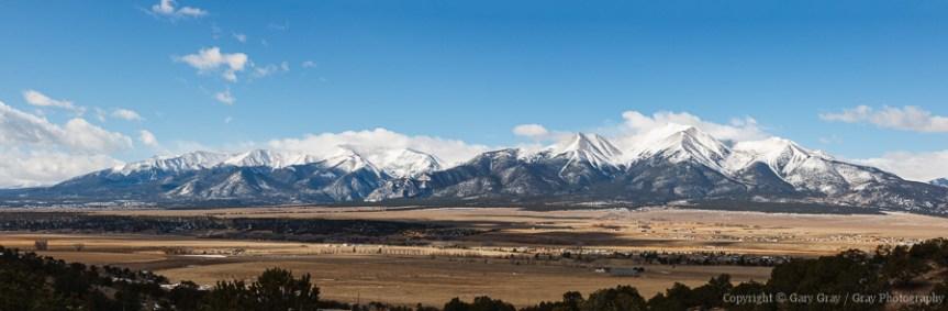 Photograph of the Collegiate Mountain Range in Colorado