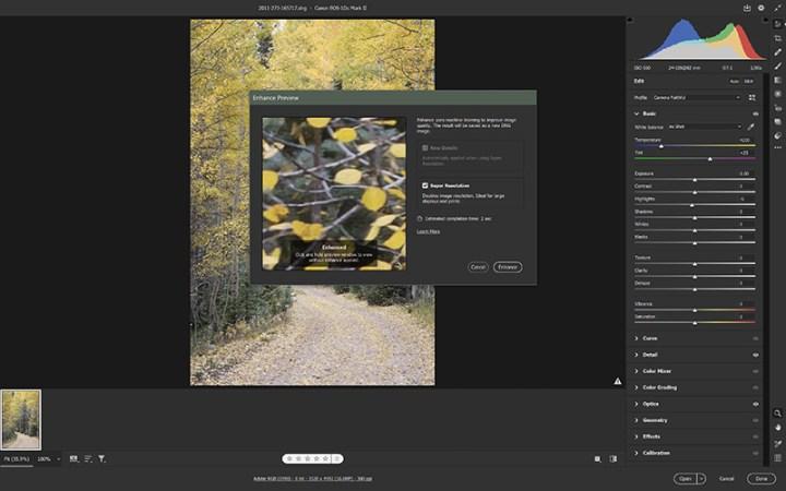 Adobe Super Resolution Image