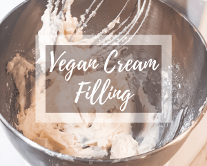 picture of vegan cream filling in a mixer