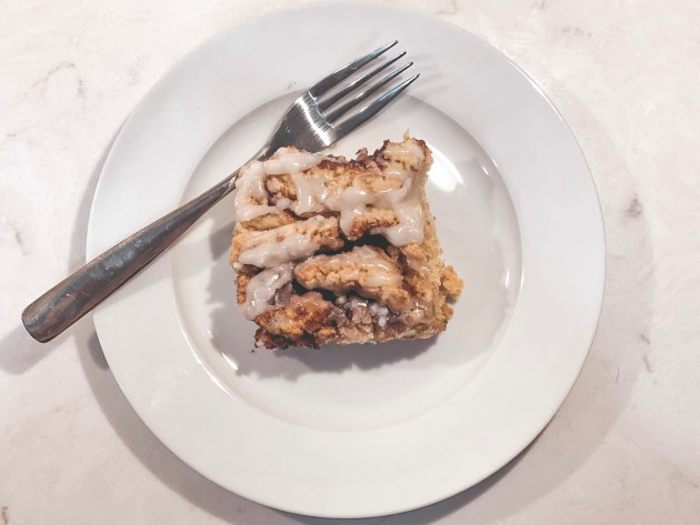 Picture of a cinnamon roll on a plate
