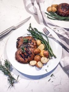 picture of grilled portobello mushroom steaks