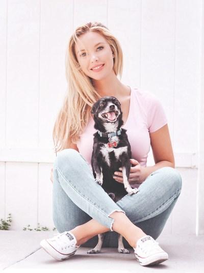 Tiffany Gray with her Dog Otis