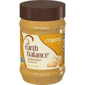 picture of earth balance creamy peanut butter used in Chocolate-Dipped Peanut Butter Stuffed Dates recipe