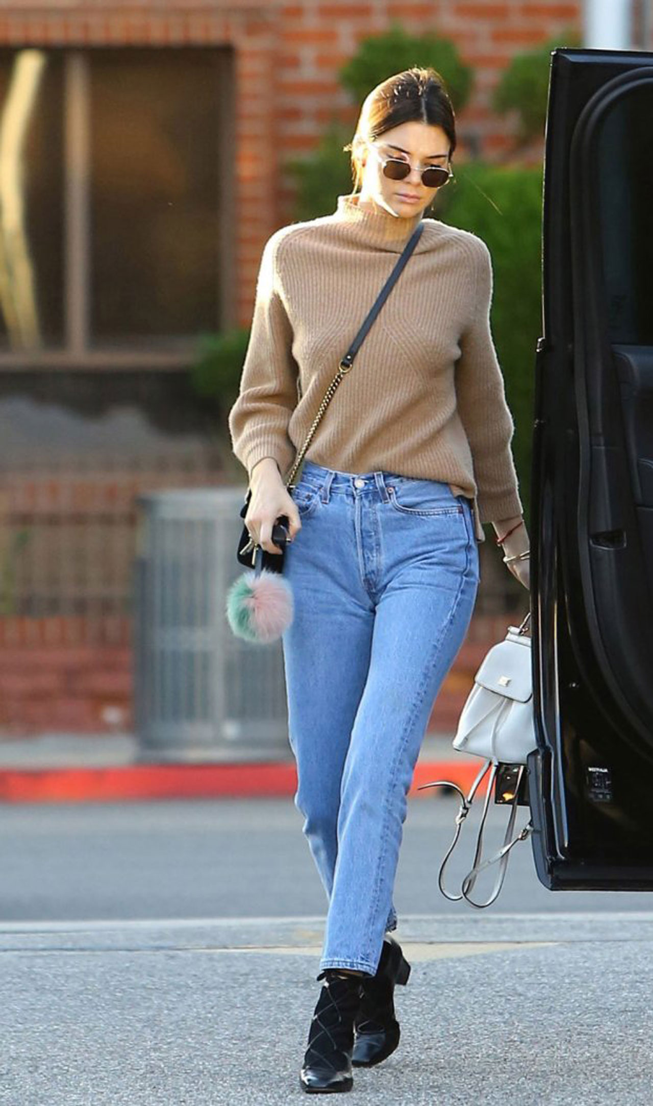 6ce10fbde5e873 The return of skinny: Jenner was the first celeb to be snapped in Levi's  new 501 iteration. Credit: Getty Images
