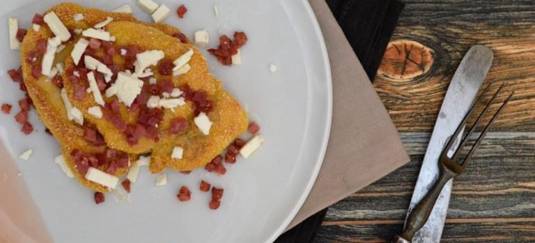 Polentahuhn auf Süßkartoffelstampf