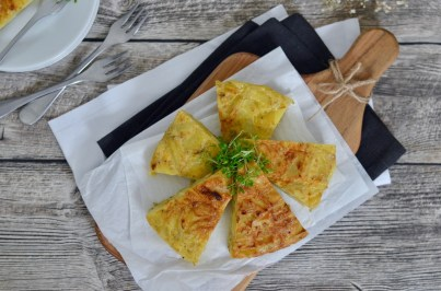 Spanische Kartoffel-Tortilla aus der Heißluftfritteuse
