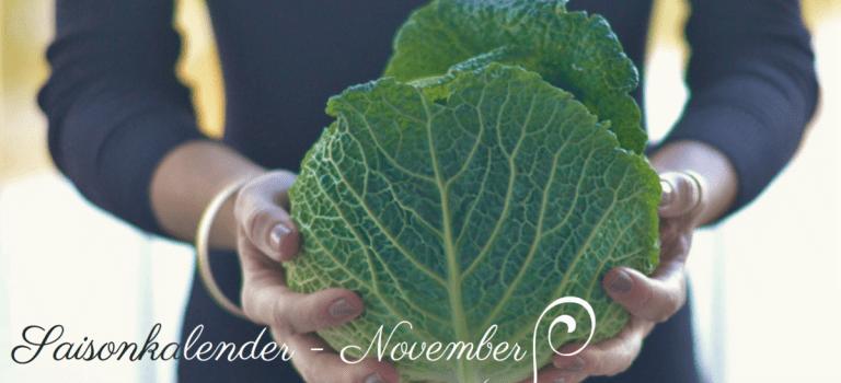 Obst & Gemüse aus heimischem Anbau: Saisonkalender November!