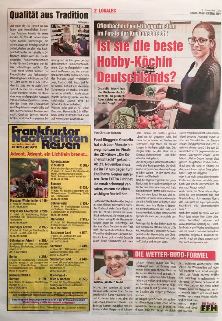 Zeitungsausschnitt: Rhein-Main Extra Tipp