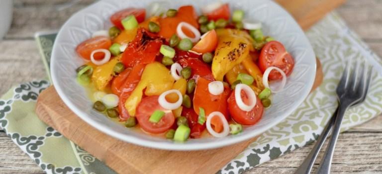 Vegetarisch Kochen: Geräucherter Grillpaprika-Salat