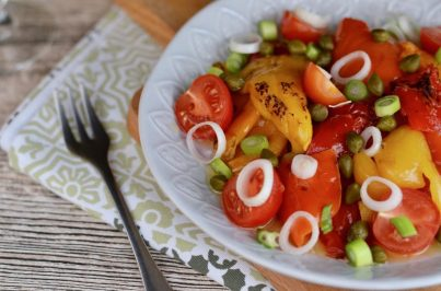 Geräucherter Grillpaprika-Salat