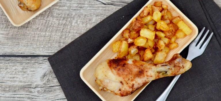 Für jeden Tag: Hähnchenschenkel mit Kartoffelwürfel