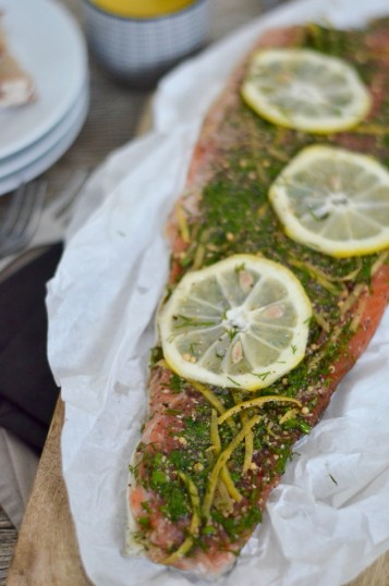 Graved Lachs mal anders: Gebeizte Lachsforelle