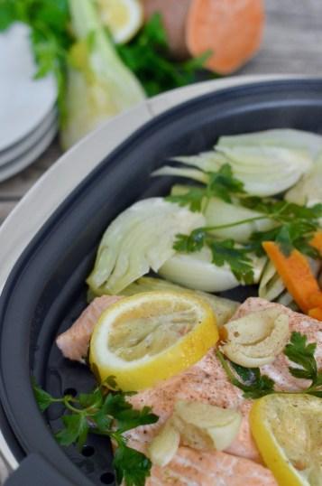 Prep&Cook Weekend Kitchen: #5 Gedämpfter Lachs mit Süßkartoffeln & Fenchel