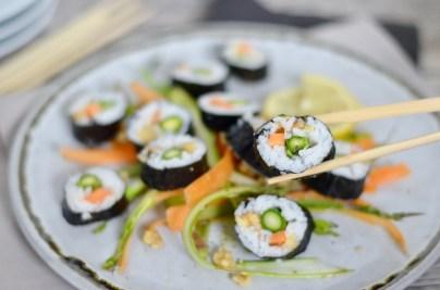 Gedämpftes WM-Fieber und ein koreanisches Gimbap mit Gemüse & Walnüssen