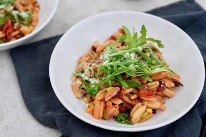 Vegetarisch Kochen: One-Pot-Pasta aus der Heißluftfritteuse