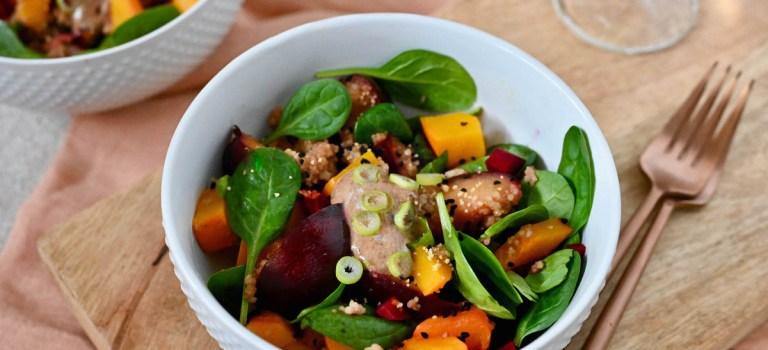 Vegetarisch Kochen: Kürbis-Pflaumen-Bowl mit Couscous