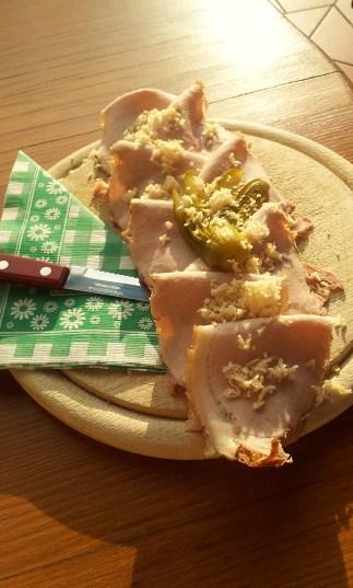 The Schweinsbratenbrot with horseradish