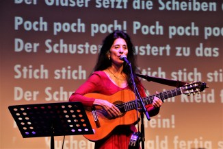 The famous Timna Brauer performing at the Gala of Children's Rights