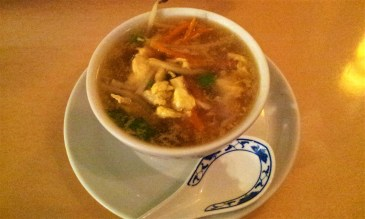 The Chicken Soup with Quirled Eggs and Vegetables
