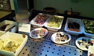 Salad Bar with Veggie Sushi