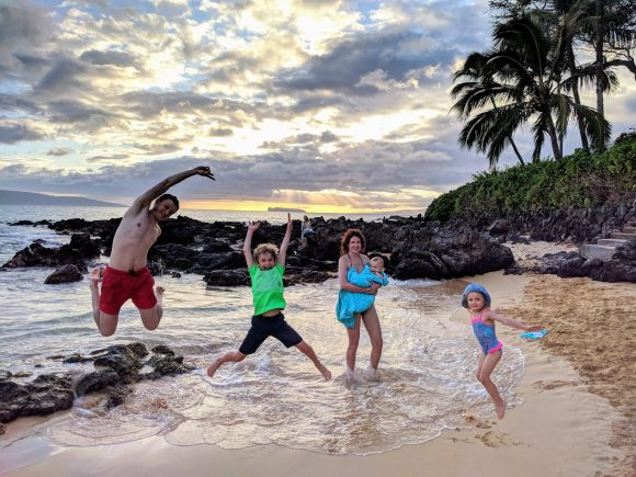 The Grazy Goat crew. Goofing around at the Makena Cove. Maui, Hawaii