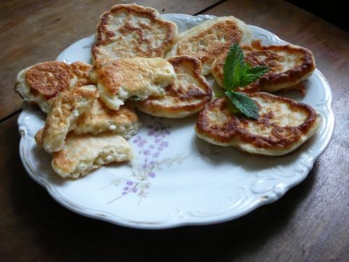placuszki z serem i mietą