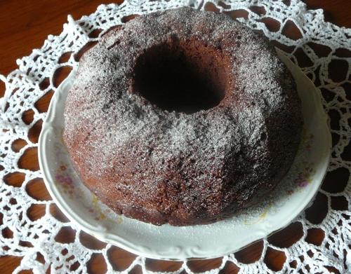 babka czekoladowo-wiśniowa
