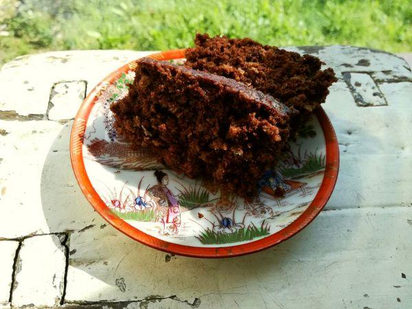 ciasto czekoladowo-owsiane