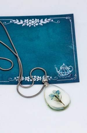 Fio em aço com medalha Flor azul GPAC3104