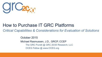 2015-10 How to Purchase IT GRC Platforms