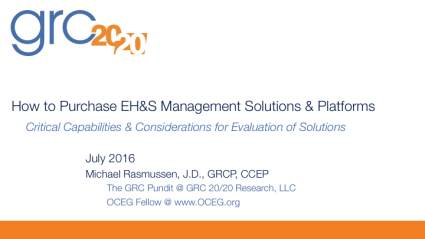 2016-07 How to Purchase EH&S Management Solutions & Platforms
