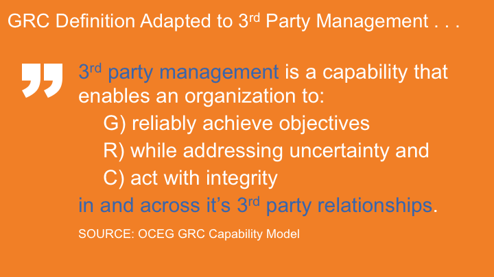 Increasing Exposure of Third Party Risks