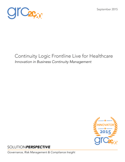 2015-09_SoP_ContinuityLogic_Healthcare_CL-Version