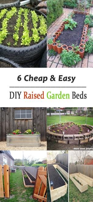 6 Cheap Easy DIY Raised Garden Beds