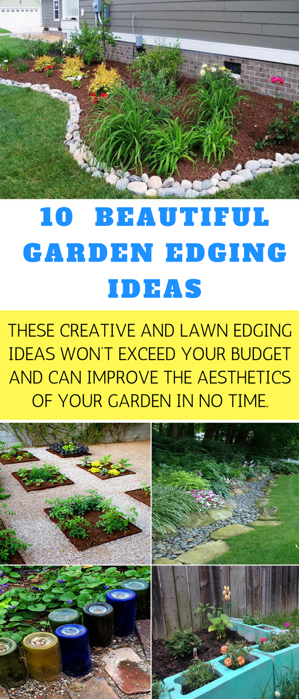 plant flowers or herbs inside the cinder blocks to create mini raised garden beds