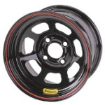 Bassett 14 x 7 x 3.625 Spun Black 4 on 4-1/4 Wheel