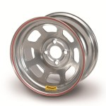 Bassett 13 x 8 x 4 Spun Silver 4 on 4-1/2 Wheel