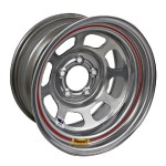 Bassett 15 x 7 x 3.75 DOT Silver 5 on 4-3/4 Wheel