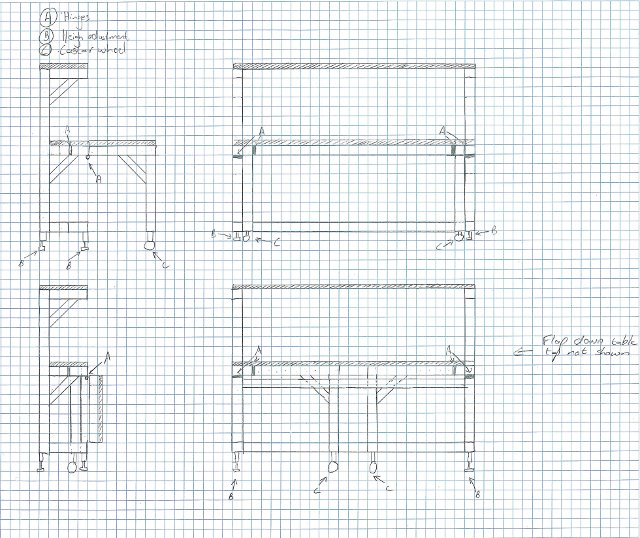 Download Fold down workbench ideas Plans DIY wood projects