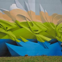 Great atmosphere, 3D Graffiti style by Peta